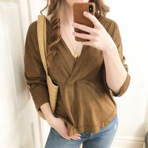 Stunning 10 Feet Amsterdam Faux Suede Blouse Large